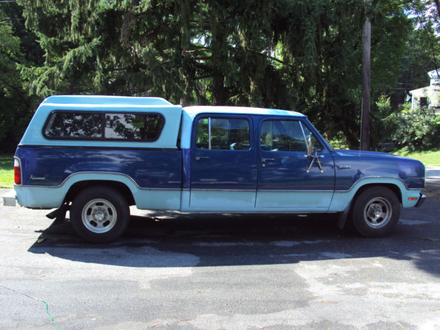 1973 dodge d200 3 4 ton pickup truck v8 automatic crew cab for sale in lancaster pennsylvania. Black Bedroom Furniture Sets. Home Design Ideas