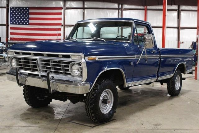 Ford F Miles Blue Pickup Truck V Automatic