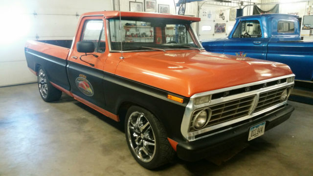 1973 Ford F100 Old School Hot Rod Rat Rod Pickup F 100
