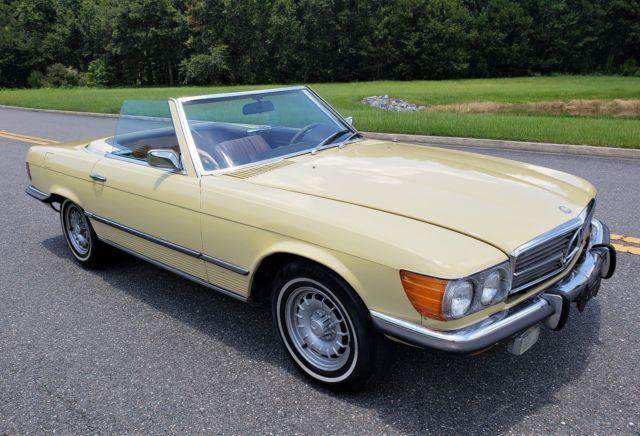 1973 Mercedes 450SL R107 Short Chrome European Bumpers WE