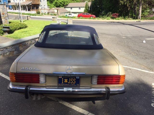 1973 mercedes benz 450sl 45 200 original low miles drop for Mercedes benz drop top