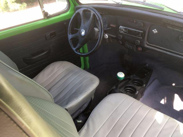 1973 VOLKSWAGEN BEETLE, AUTOSTICK, GREEN/BLACK, RARE AUTOMATIC STICKSHIFT VW BUG