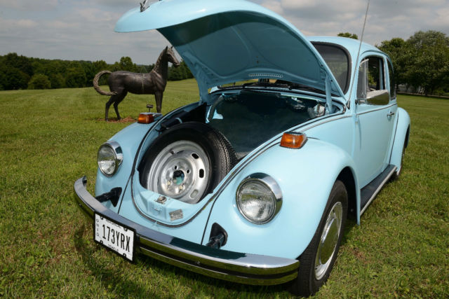 1974 74 vw volkswagen classic beetle bug baby blue auto stick for sale in mount vernon ohio. Black Bedroom Furniture Sets. Home Design Ideas
