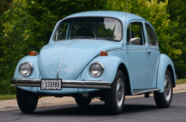 1974 74 VW VOLKSWAGEN–CLASSIC BEETLE BUG, NO RESERVE BABY BLUE AUTO STICK for sale in Mount ...