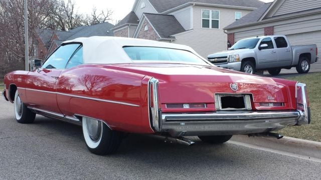 1974 cadillac eldorado convertible caddy old school classic collector for sale in grayslake. Black Bedroom Furniture Sets. Home Design Ideas
