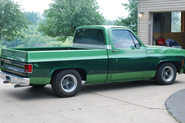 1974 chevy c10 pickup truck 454 big block lowered hot rod. Black Bedroom Furniture Sets. Home Design Ideas
