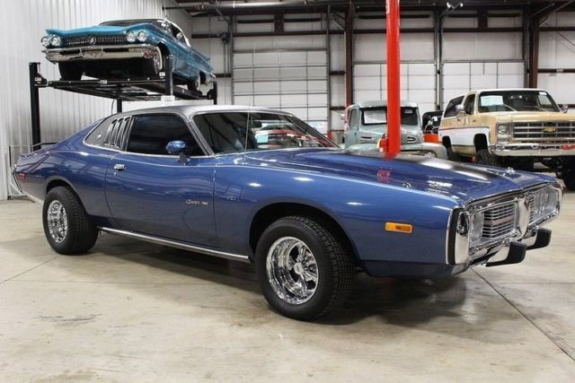1974 Dodge Charger 22242 Miles Bright Blue Poly Coupe 360
