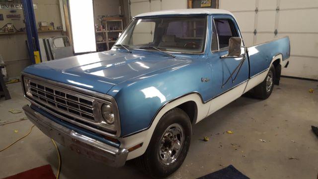 1974 Dodge Truck D200 Camper Adventure Special 3 4 Ton