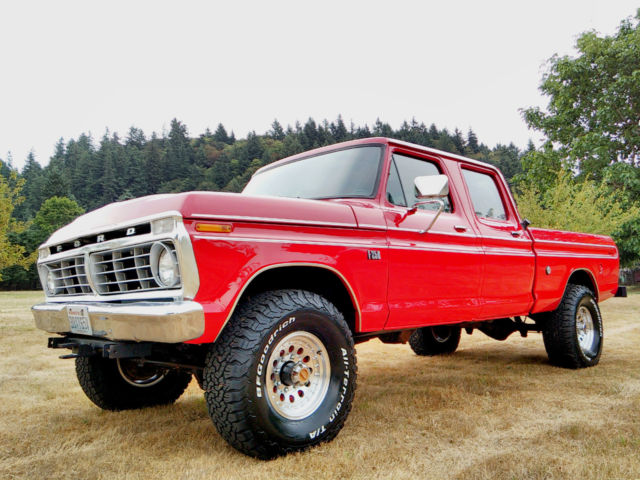1974 ford f 250 4x4 crew cab highboy excellent condition fully restored for sale in gresham