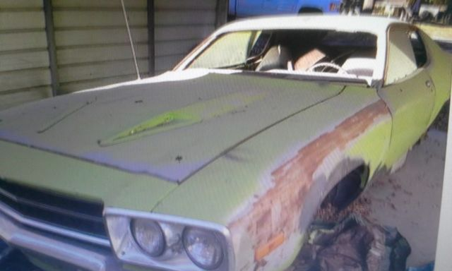 1974 lime green plymouth road runner gtx parts repair project. Black Bedroom Furniture Sets. Home Design Ideas