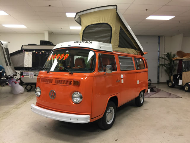 vw bus popup camper westy van westfalia  sale  technical specifications description
