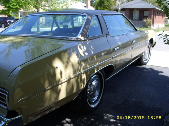 1975 Chevrolet Impala 4dr Hardtop Sedan 74k Original Miles