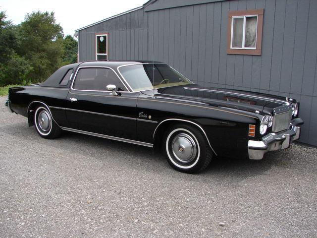 1975 Chrysler Cordoba 360 Black Very Original 1 Owner