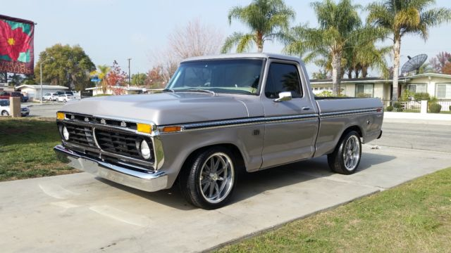 1975 ford f100 - CUSTOM SHORT BED - EFI FUEL INJECTED 302 ...