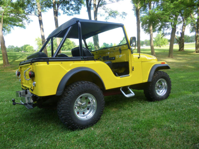 1975 jeep cj5 frame off restoration hot rod  convertible