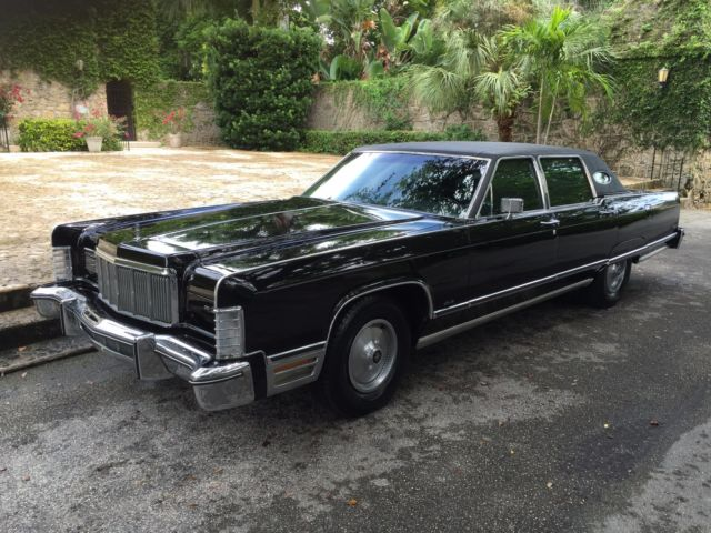 1975 lincoln continental town car triple black. Black Bedroom Furniture Sets. Home Design Ideas