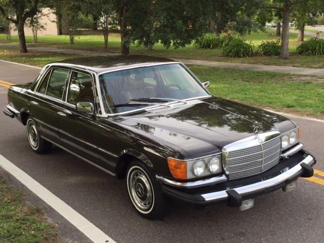 1975 mercedes 280s w116 in dark tobacco brown 69k a c for Mercedes benz ac
