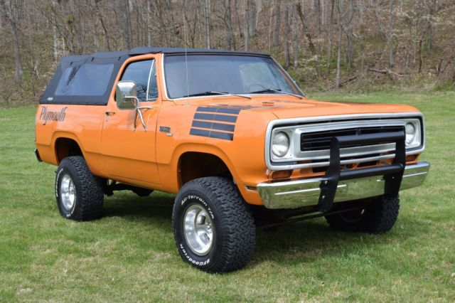 Lifted Jeeps For Sale >> 1975 plymouth trailduster factory 440 not blazer not ...