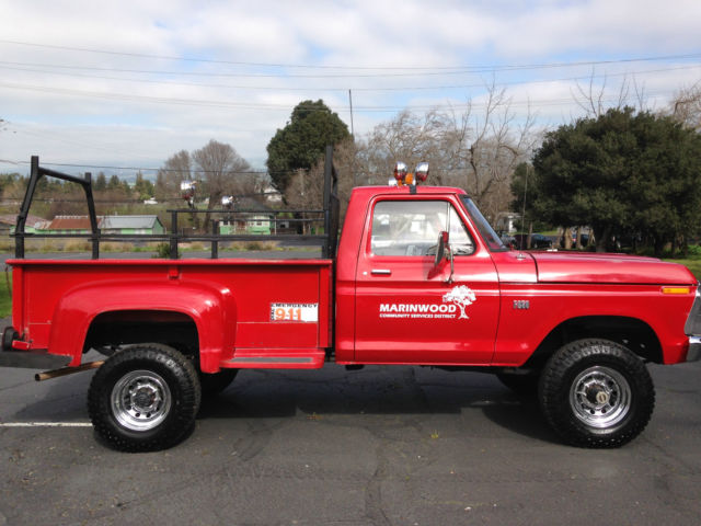 1976 1972 1973 1974 1975 1977 1978 1979 ford f 250 ex fire service truck brush for sale in. Black Bedroom Furniture Sets. Home Design Ideas