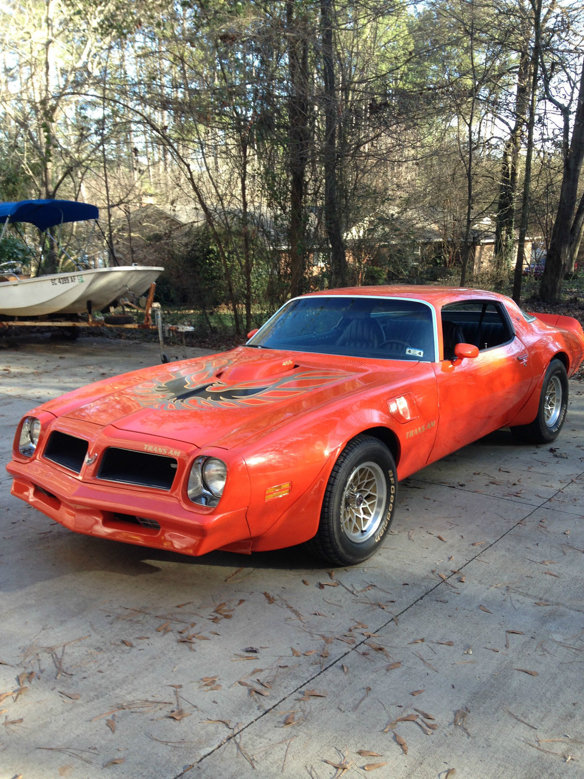 1976 76 pontiac trans am 455 4speed carousel red for sale. Black Bedroom Furniture Sets. Home Design Ideas