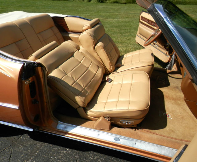 1976 Cadillac Eldorado Convertible Amberlite Firemist With Fleetwood Interior