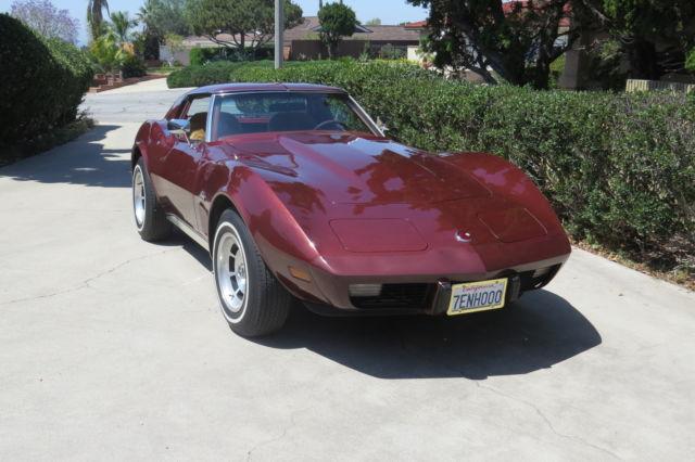 1976 chevrolet corvette stingray coupe 2 door 5 7l low miles for sale in glendora california. Black Bedroom Furniture Sets. Home Design Ideas