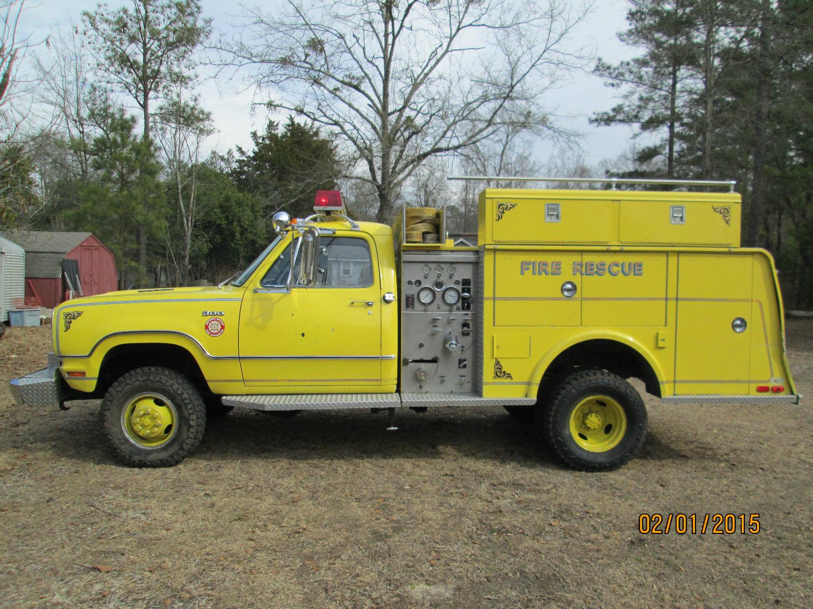 1976 Dodge Power Wagon W300 Mini Pumper Fire Truck 20,943 Miles No Reserve for sale in ...