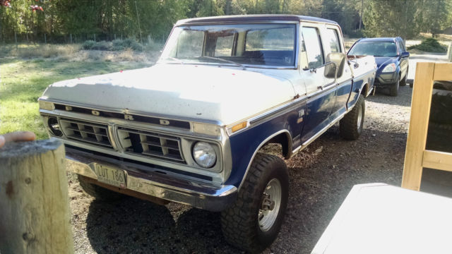 1976 ford f 250 crew cab 4x4 ranger xlt highboy truck for sale in rogue river oregon united states. Black Bedroom Furniture Sets. Home Design Ideas