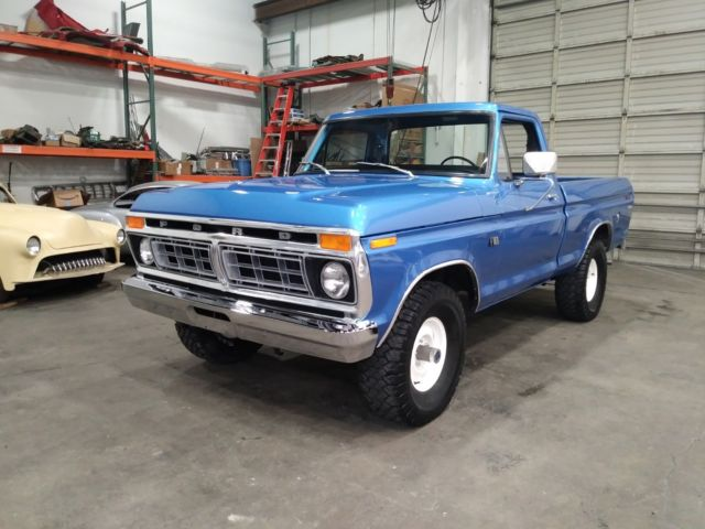 1976 Ford F100 Custom 4x4 Short Bed Pickup New Paint Interior 390 4v 4 Speed For Sale Photos Technical Specifications Description