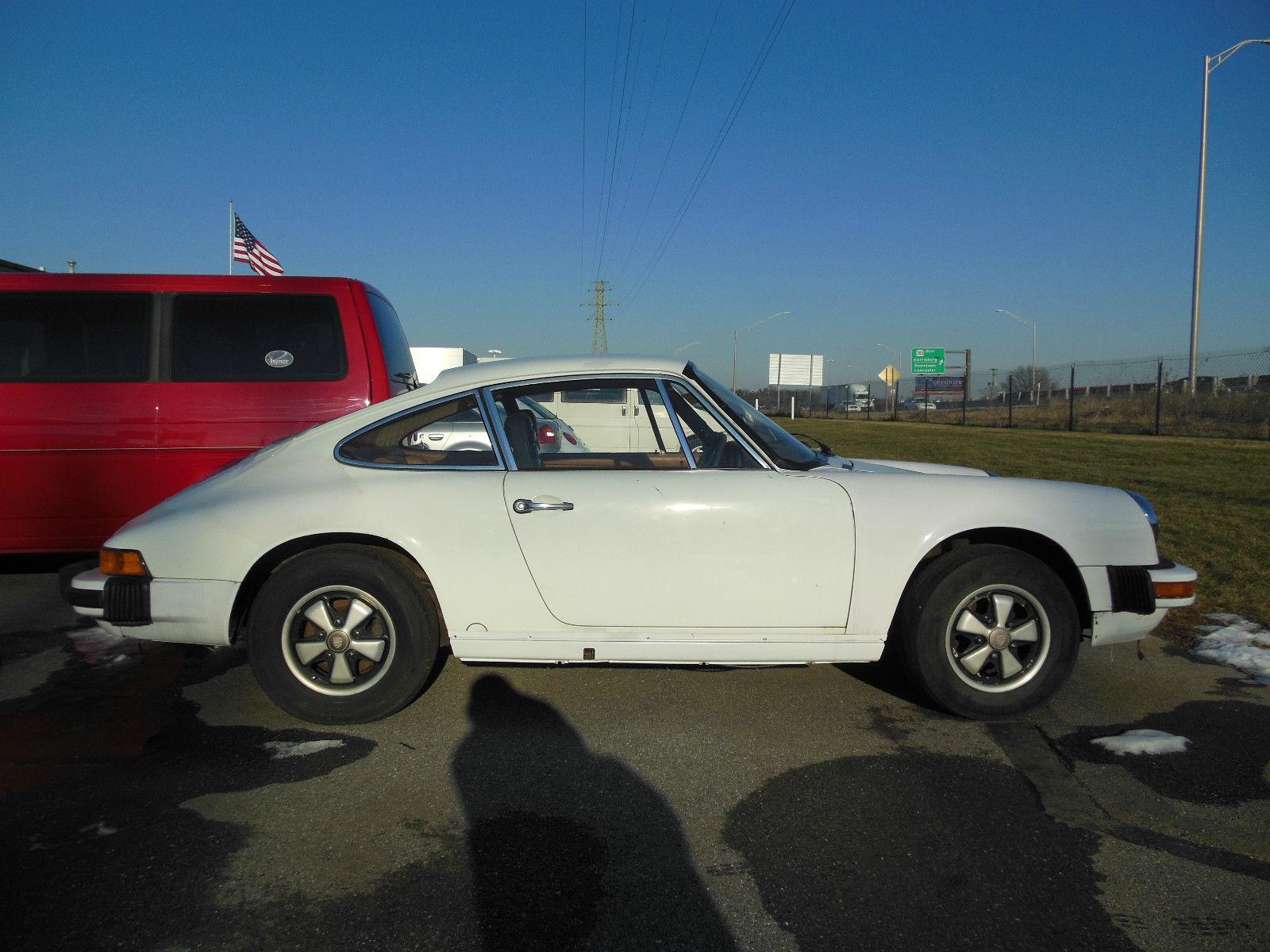 Cars For Sale In Lancaster Pa: 1976 PORSCHE 912E Grand Prix White Project Car Barn Find