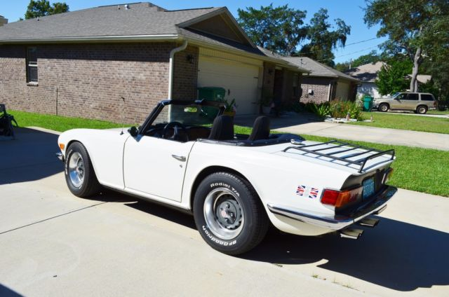 1976 Triumph Tr6 Roadster Mustang V 6 And 5 Speed Wolf In