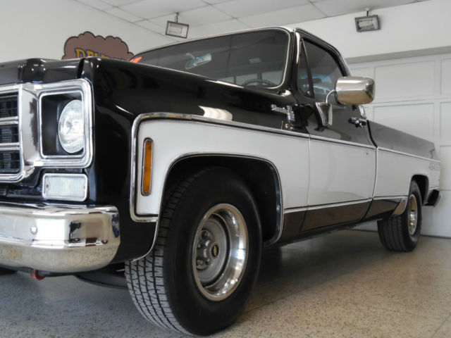 1977 Chevrolet C-10 454 SS, Blue / White Restored Project ...