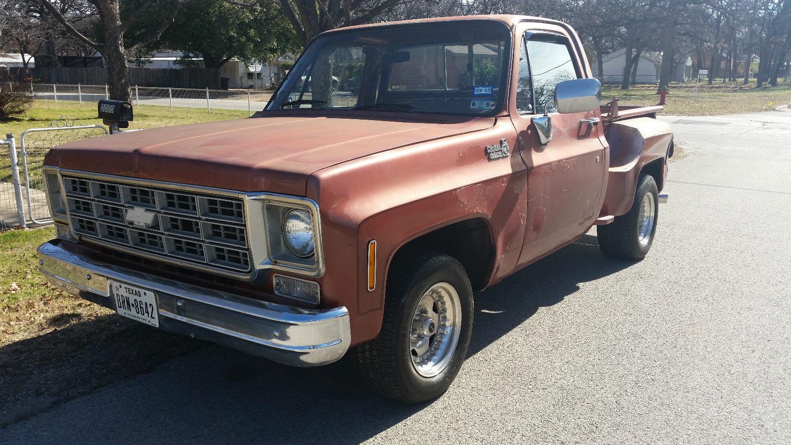 1977 chevy swb stepside pickup truck for sale in haltom city texas united states. Black Bedroom Furniture Sets. Home Design Ideas