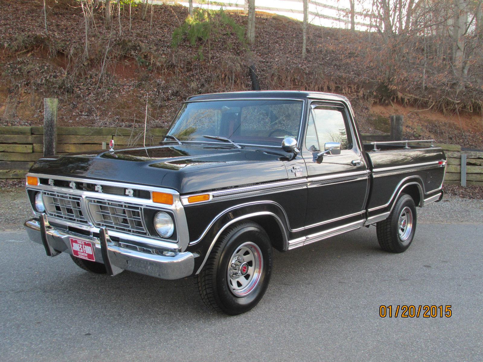 1977 ford ranger xlt f100 black 40k miles for sale in wilkesboro north carolina united states. Black Bedroom Furniture Sets. Home Design Ideas