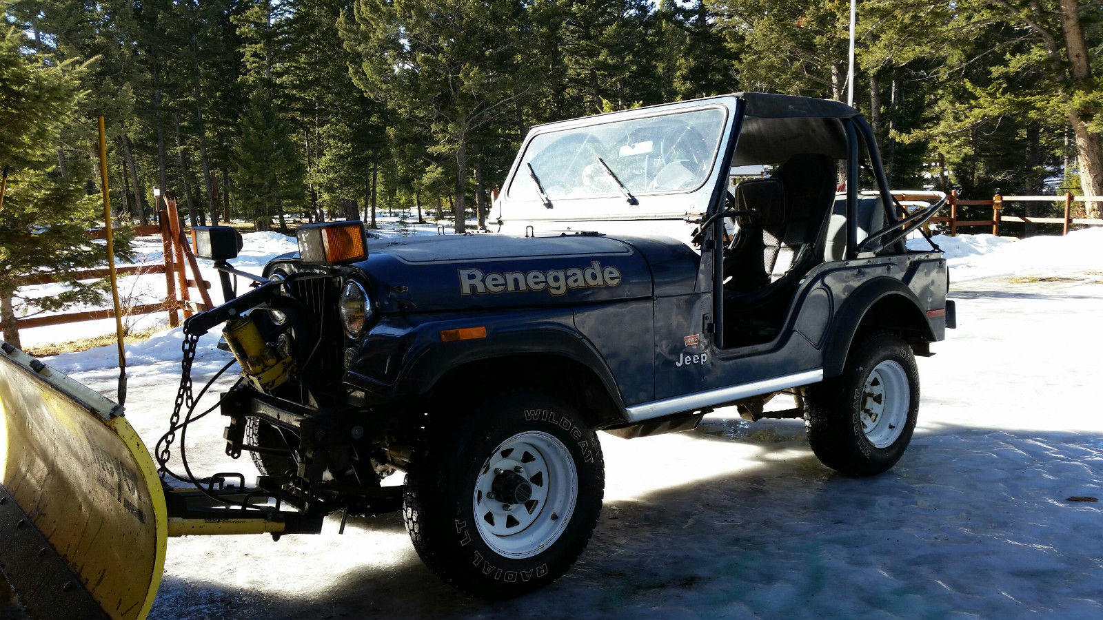 1977 jeep cj5 meyers snow plow renegade 4x4 for sale in missoula montana united states. Black Bedroom Furniture Sets. Home Design Ideas