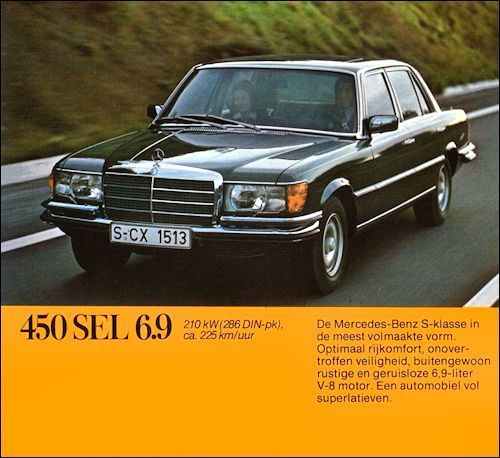 1977 mercedes benz 450 sel 6 9 the fastest 4 door sedan in the world of its time. Black Bedroom Furniture Sets. Home Design Ideas