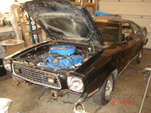 1977 Mustang Cobra llBlack & Gold351 Winsor, 2 Speed