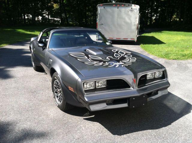 1977 pontiac trans am graphite se y82 w72 retro smokey and