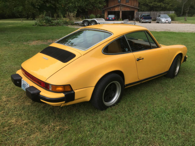 1977 Porsche 911 S Coupe 2 Door 2 7l Talbot Yellow For