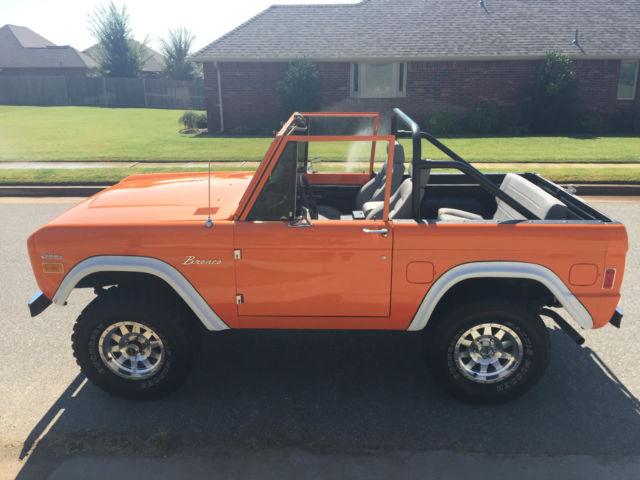 1977 Premium Orange Paint Ford Bronco Automatic Low Miles