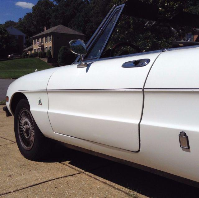 1978 Alfa Romeo Spider. Approximately 125,200 Miles. One