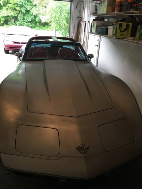 1978 corvette l82 silver anniversary two tone silver paint. Black Bedroom Furniture Sets. Home Design Ideas