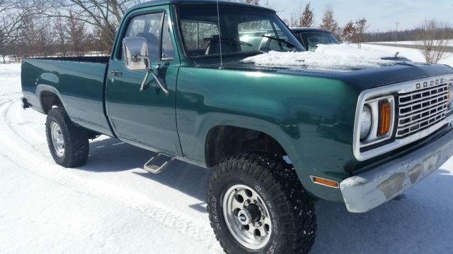 1978 dodge power wagon 4x4 new 360 crate engine dana 60
