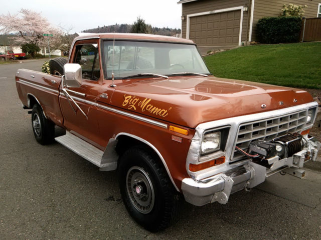 1978 FORD F250 4X4 CAMPER SPECIAL HIGHBOY FACTORY WINCH NO ...