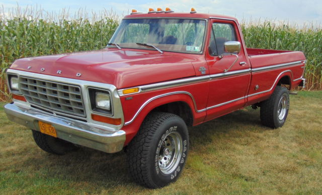 1978 Ford Ranger F250 Xlt 429 4 Speed 4x4 Pickup Truck For