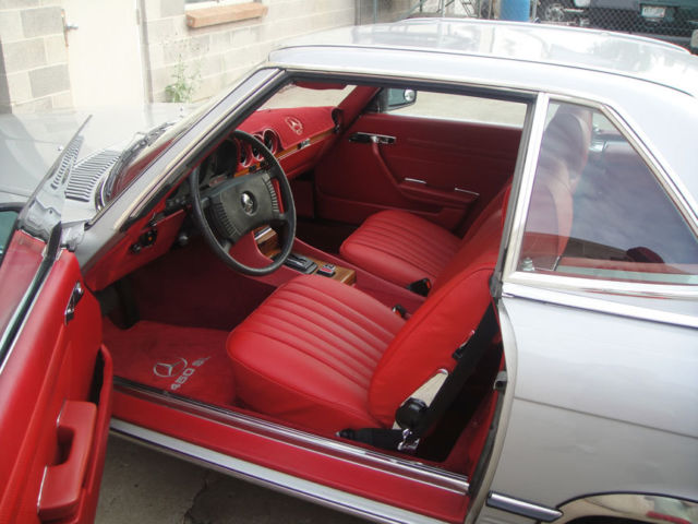 1978 mercedes benz 450 sl custom red interior with hardtop and softop for sale in denver. Black Bedroom Furniture Sets. Home Design Ideas