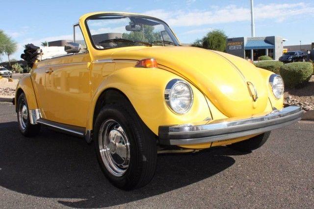 1978 volkswagen super beetle convertible 80764 miles sunshine yellow convertibl. Black Bedroom Furniture Sets. Home Design Ideas