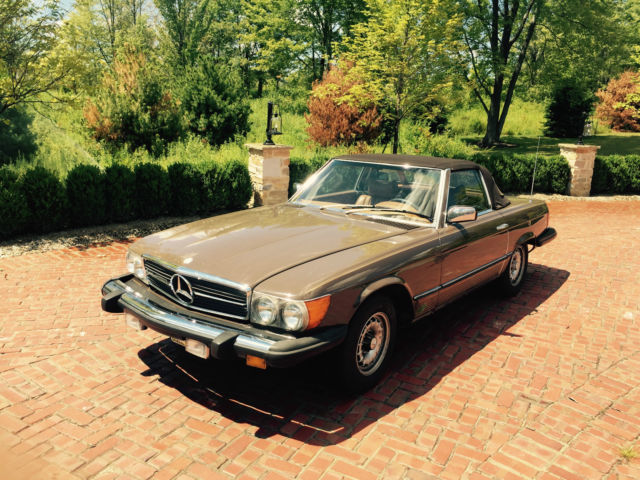 1979 brown mercedes benz convertible 450sl for sale in for Mercedes benz cleveland