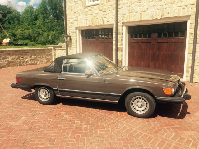 1979 brown mercedes benz convertible 450sl for sale in for 1979 mercedes benz 450sl for sale