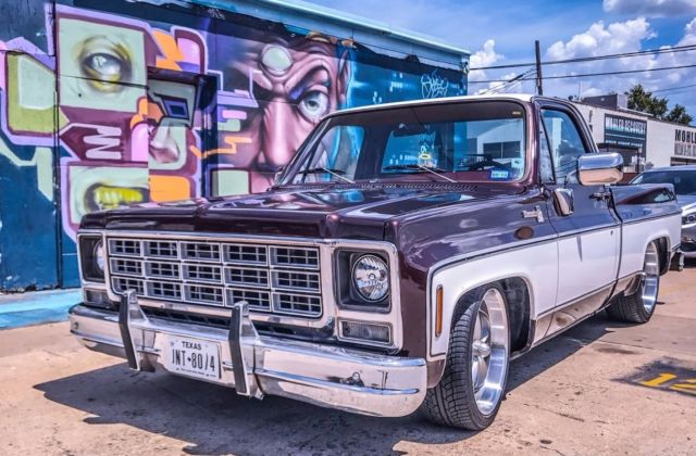 1979 Chevrolet C10 Ls Swapped Shortbed Two Tone Brown And White Vintage Air Swb For Sale  Photos